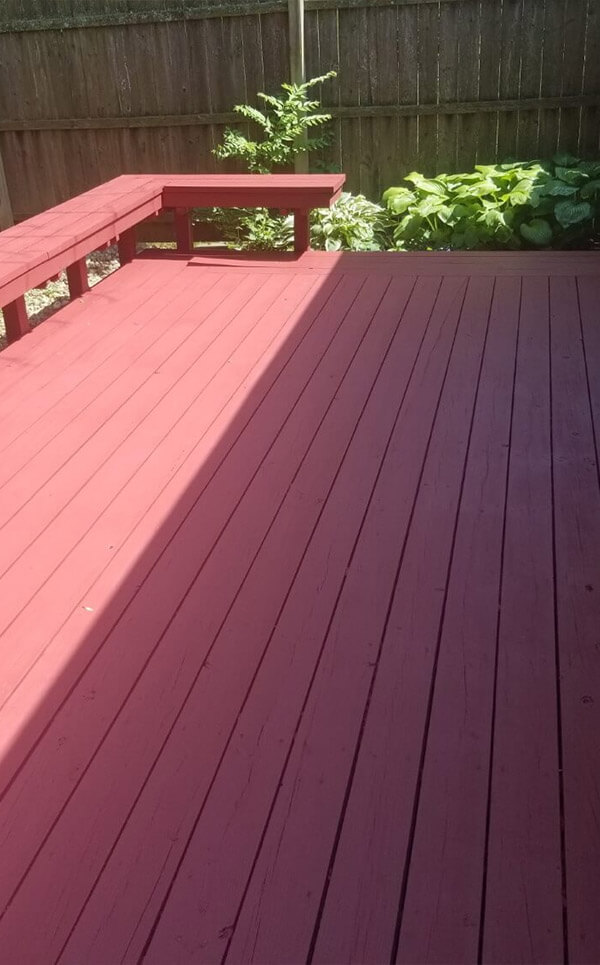 Lovell Brothers LLC - Bloomington painting contractors - Deck After